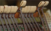 Worn piano hammers